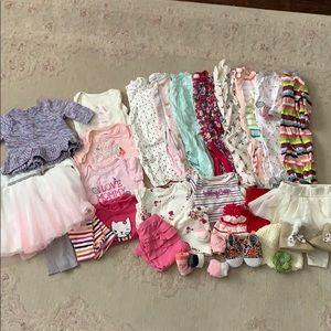 Huge lot baby girl clothes 0-3m